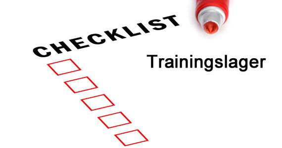 Mindset und Checkliste für das Trainingslager
