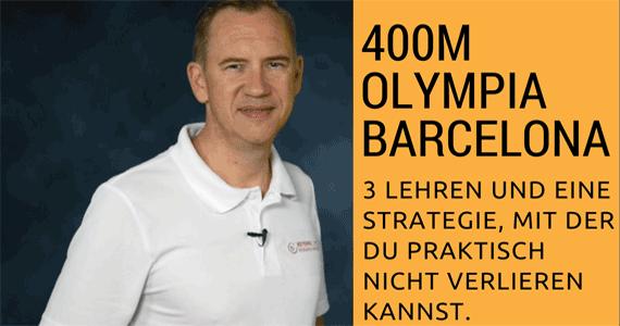 Drei Lehren vom langsamsten 400m Olympia-Sprint …